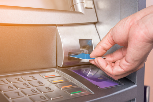 credit card going into ATM