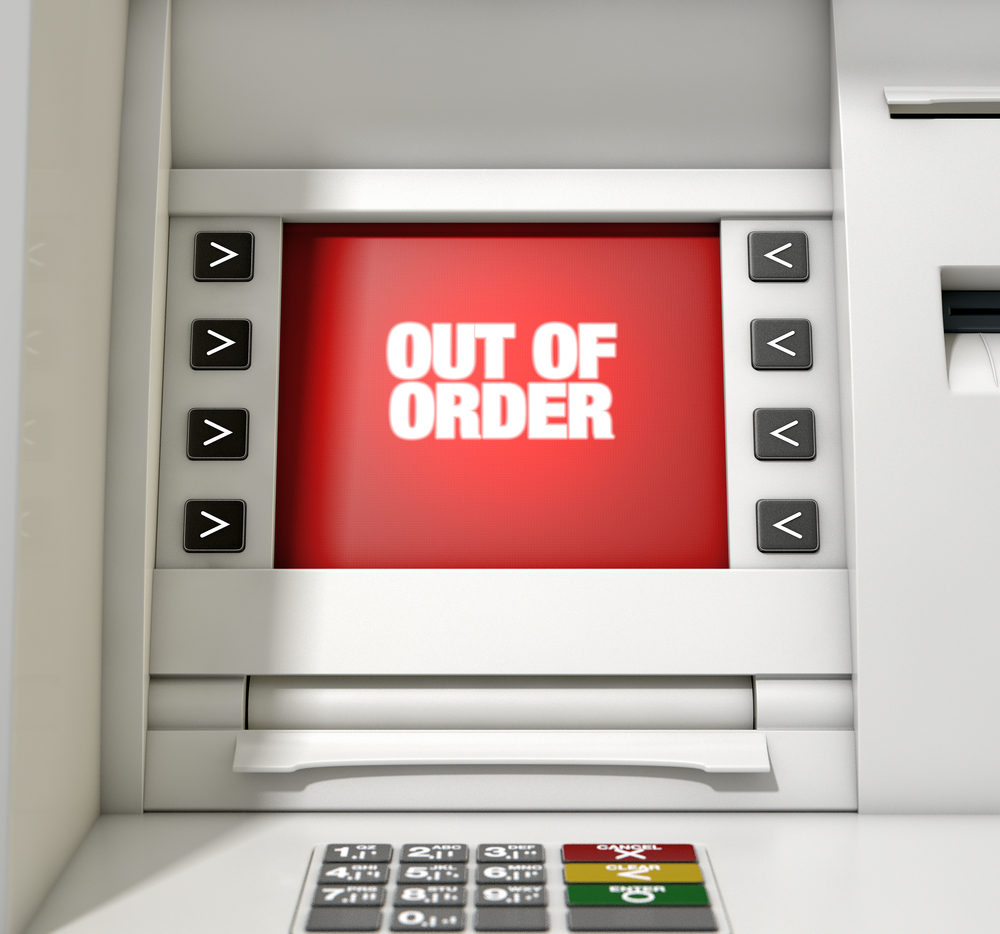 Out of order ATM