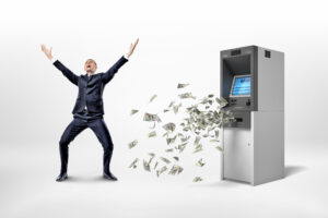 man with ATM money